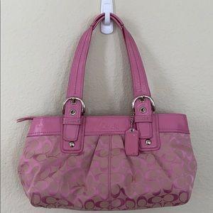 COACH Signature SOHO Pink Shoulder Handbag